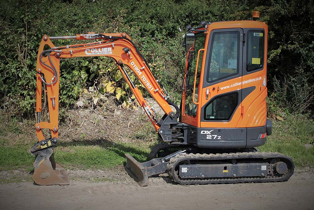3 Tonne Excavator for Hire in Yorkshire