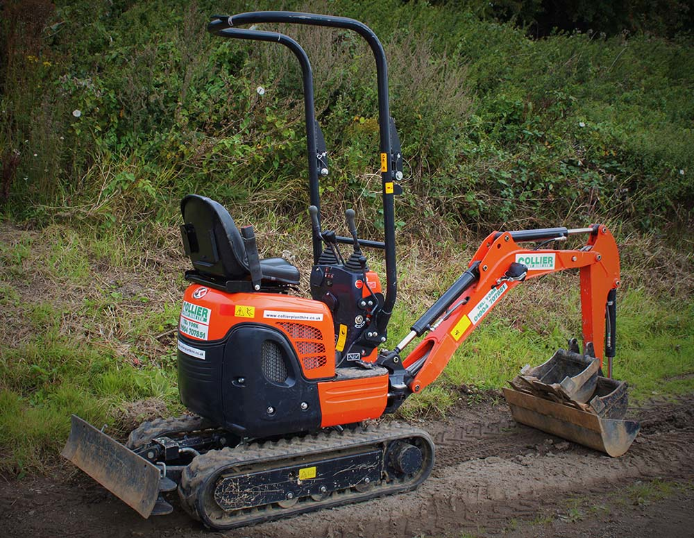 Micro Excavator for Hire in Yorkshire