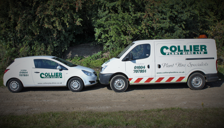 Collier Plant Hire Support Vehicles serving Yorkshire